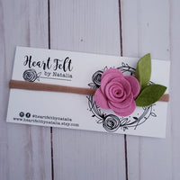 Heartfelt Single Rose Headband (Multi Colors available)