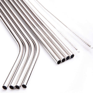 Grizzly Baby Stainless Steel Straw Set - 8 pack