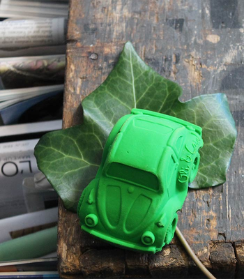 Oli & Carol Carlito the green beetle car. 100% natural rubber.