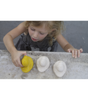 Oli & Carol Elvis the Yellow Duck. Elvis the duck is hand-crafted with no holes so when they're floating about, no bacteria or mold is present. Completely safe for kids, worry-free play