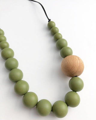 Kai & Ben Khaki Teething Necklace