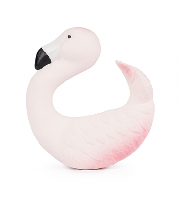 Oli & Carol Sky the Flamingo. Eco friendly bracelets are soft and easy to grip and place around the wrist, little baby gums love the texture of natural Hevea rubber!
