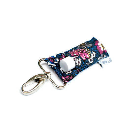 LippyClip Navy with Fuchsia Floral