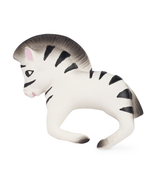 Oli & Carol Zoe the Zebra. These Eco friendly bracelets are soft and easy to grip and place around the wrist, little baby gums love the texture of natural Hevea rubber.