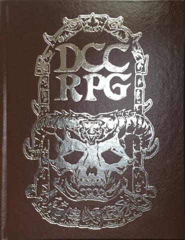 Dungeon Crawl Classics Rulebook Silver Foil Demon Skull Redux Hardcover