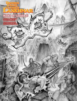 Dungeon Crawl Classics Lankhmar, Masks of Lankhmar (sketch cover) by Michael Curtis a Level 1 Adventure