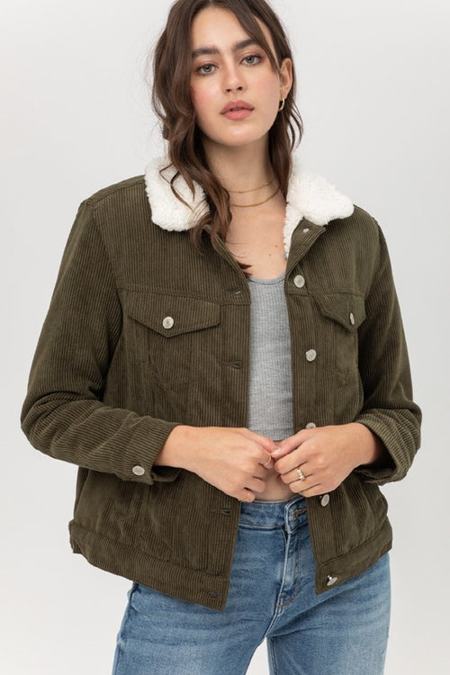 Fleece Corduroy Jacket