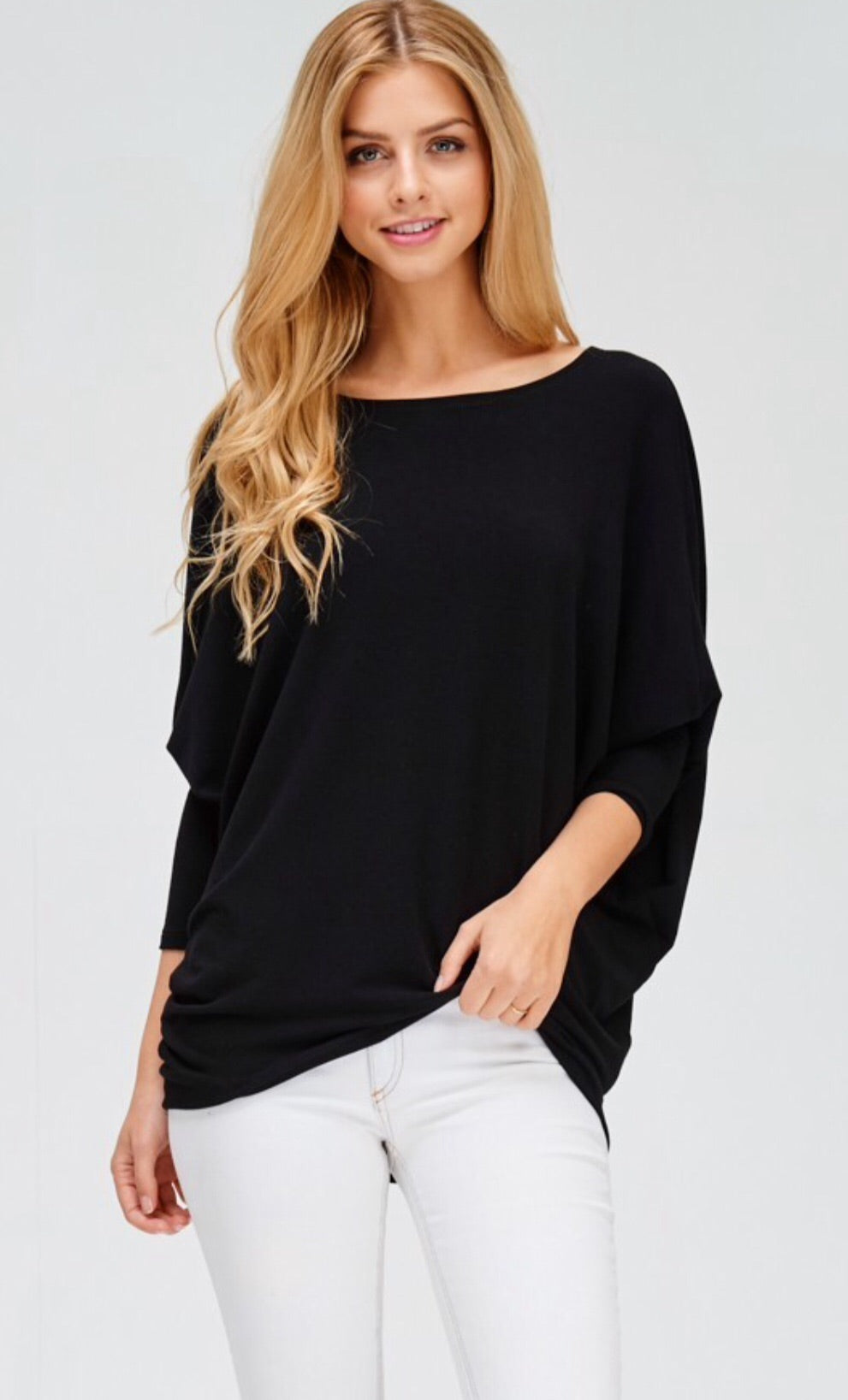 Dolman Basic Knit Long Sleeve Top