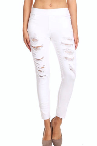 Hallelujah Moto Jeggings with Zipper