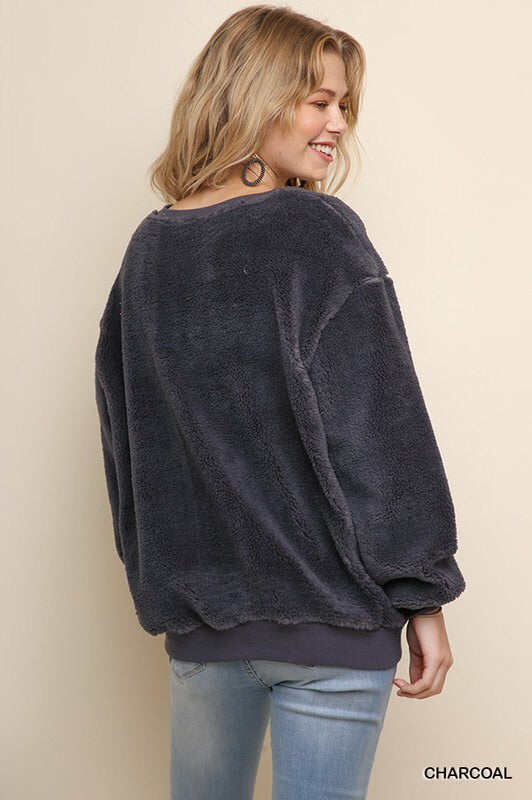 Furry Long Sleeve Pullover