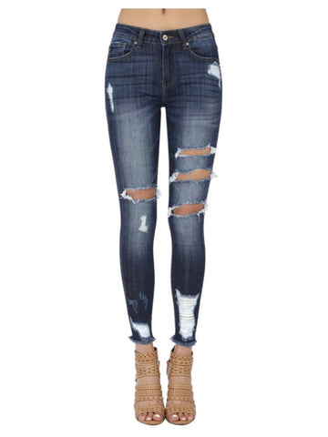 Bella Black High Rise Skinny Jeans