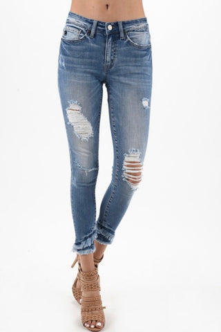 Ultra High Rise Button Fly Skinny Jeans