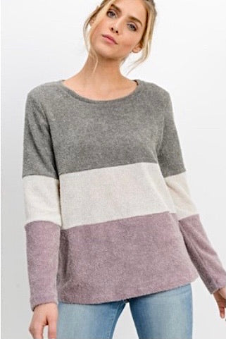 Color Block Sweater Top