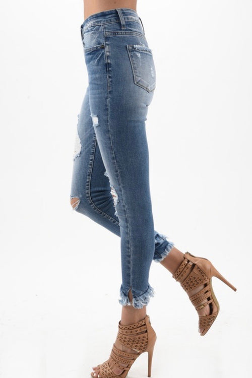 Bella Light Wash Distressed Skinny Jeans