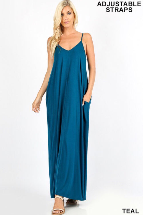 Cocoon Maxi Dress with Pockets