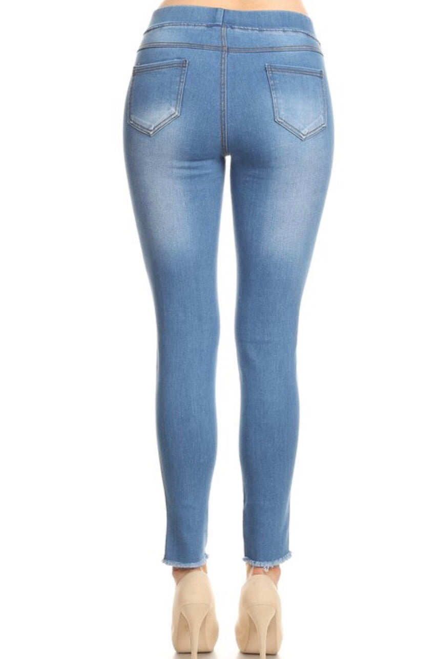 Hallelujah Light Wash Distressed Jeggings