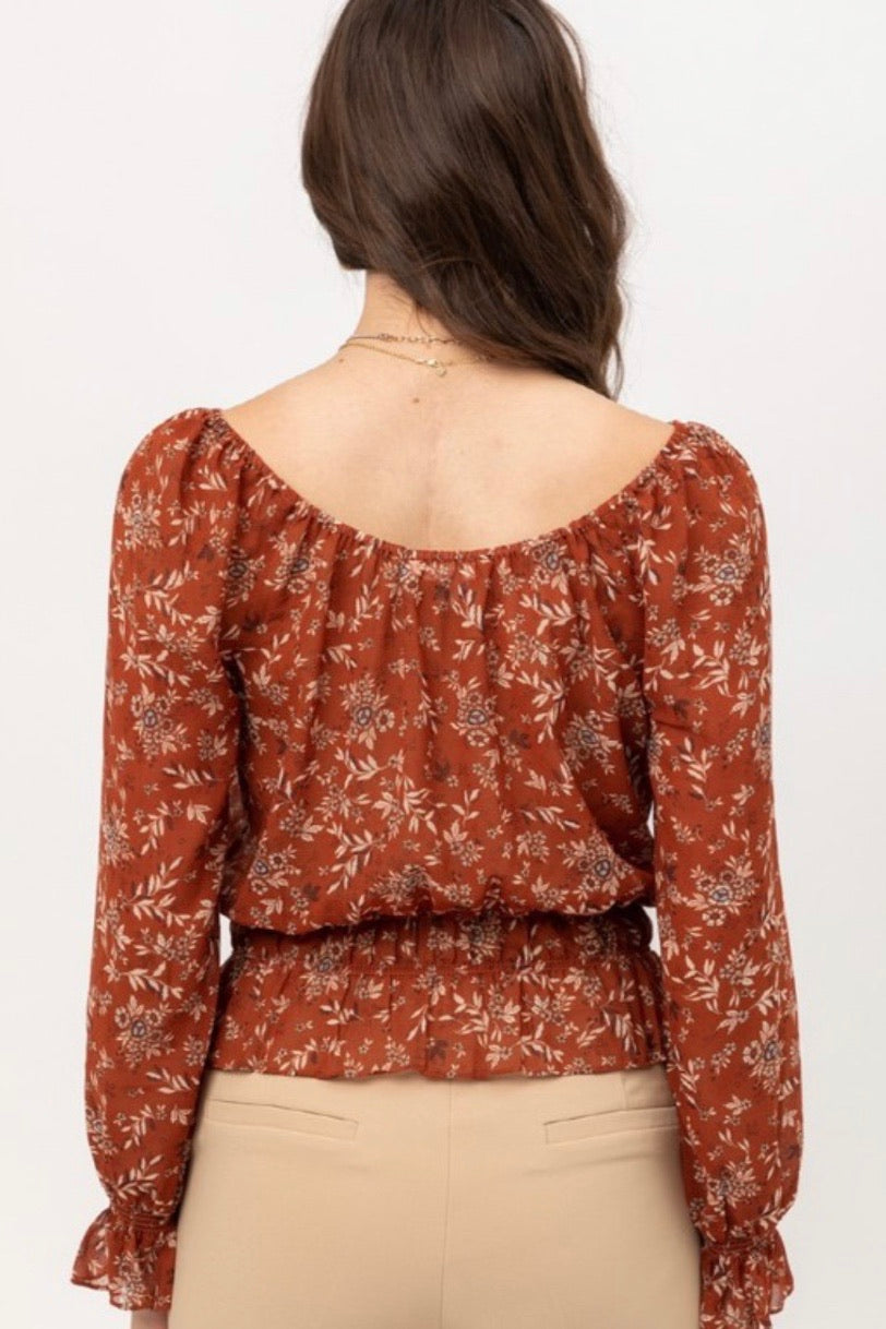 Floral Leaf Fall Blouse