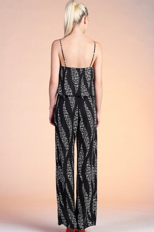 Front Tie Star Struck Jumpsuit