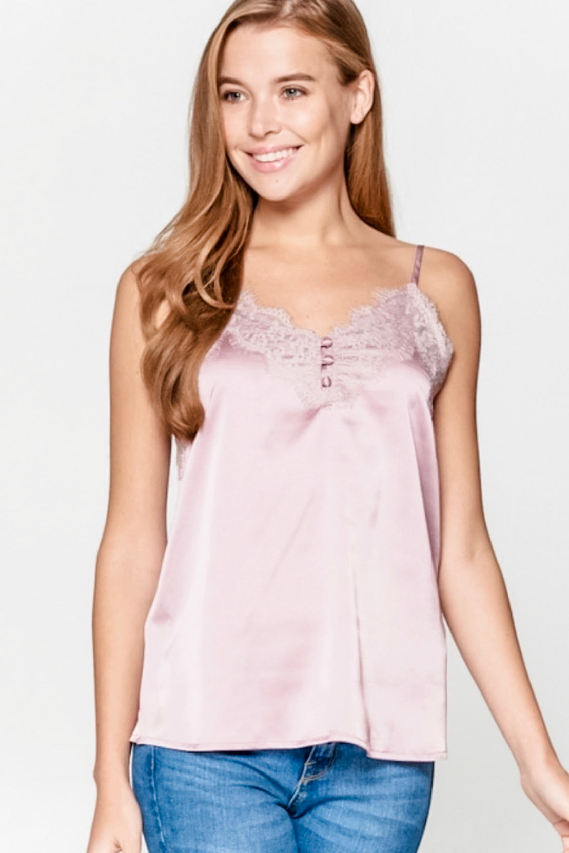 Button Detail Lace Camisole