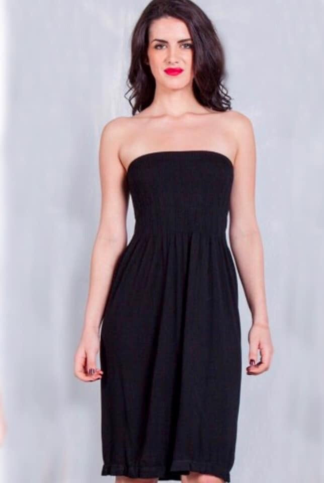 Smock Strapless Dress Cover Up