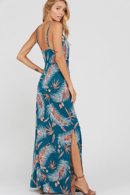 Tropical Maxi Twist Front Dress