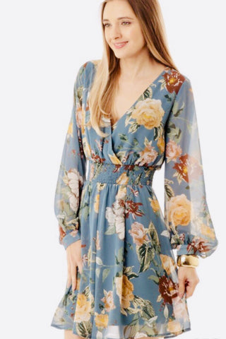 Blooming Ruffled Floral Dress