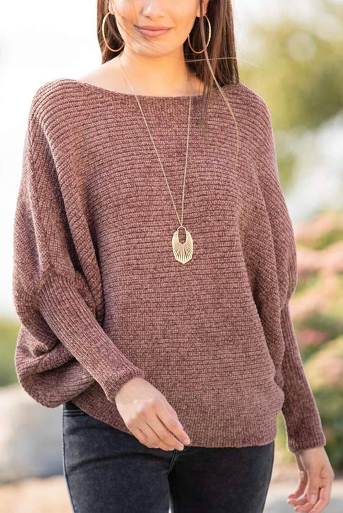 Chenille Dolman Sleeve Cozy Sweater