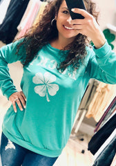 Lucky Clover Light Sweatshirt Top