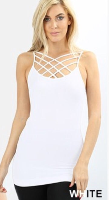 Triple Criss Cross Tank Top