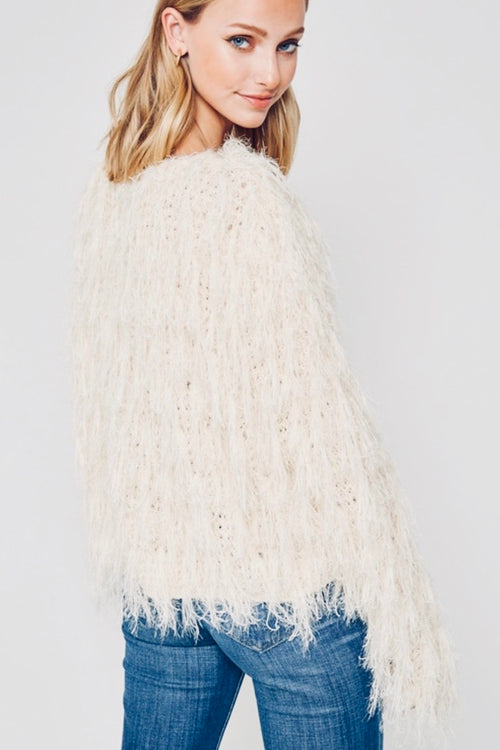 Shag Off White Sweater