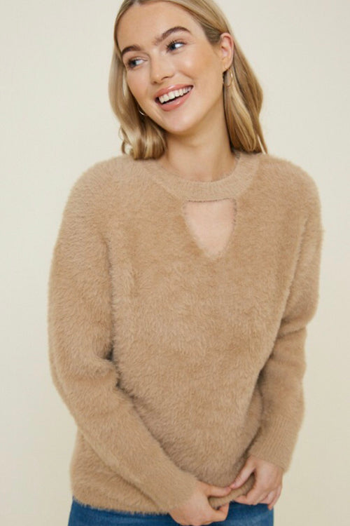 Mohair Keyhole Sweater
