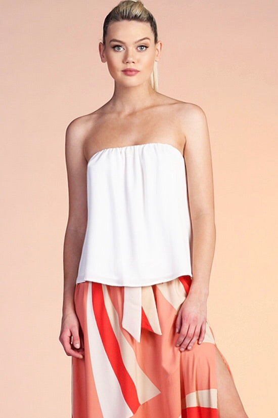 Simple Chic Strapless Top