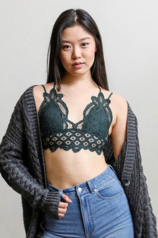 Crochet Bralette with Adjustable Straps