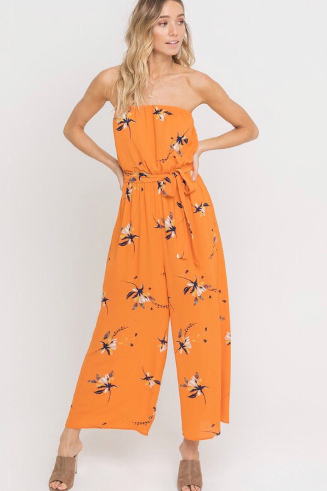 Orange Summer Jumpsuit