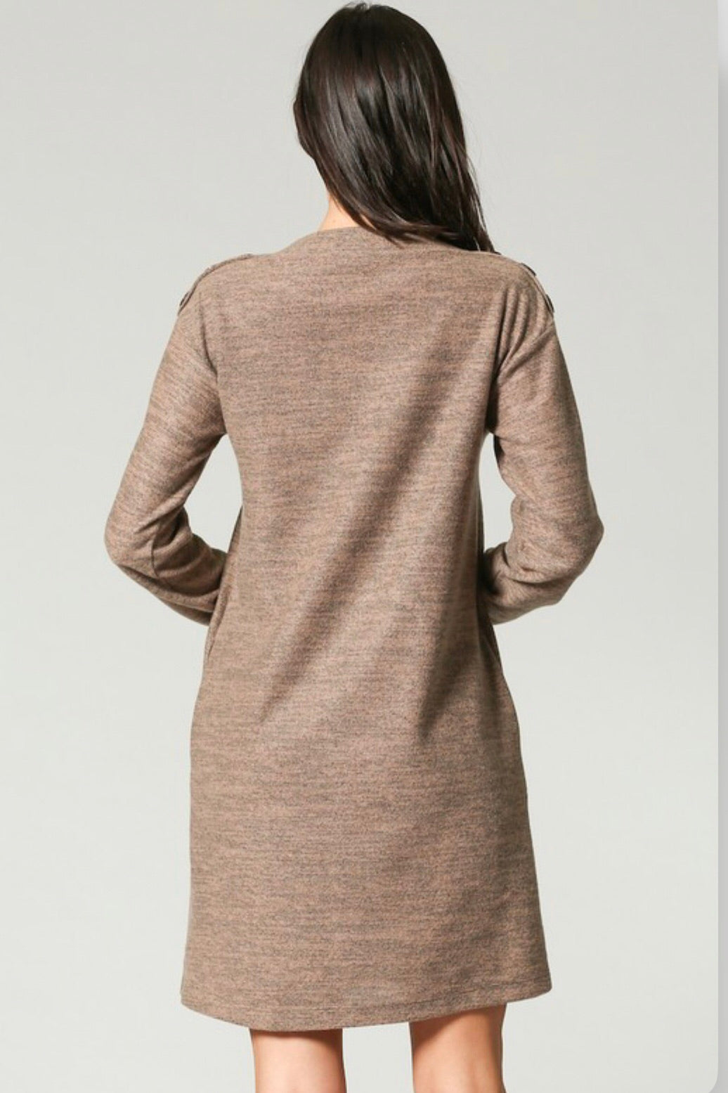 Light Pocketed Sweater Dress