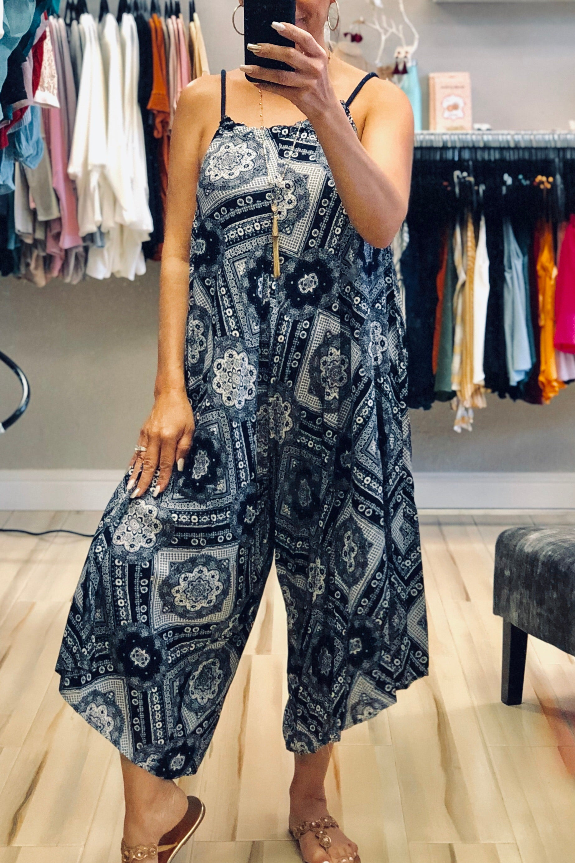 Relaxed Printed Jumpsuit