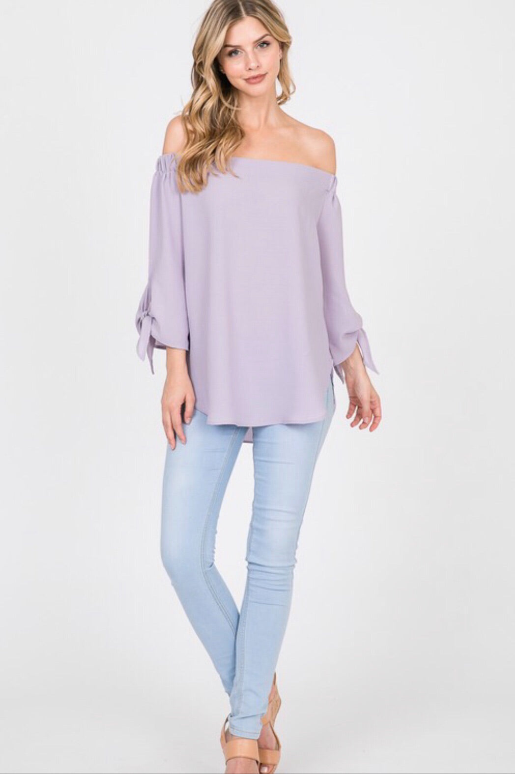 Off Shoulder Pastel Blouse