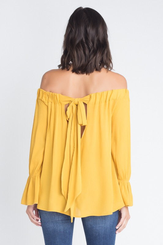 Off Shoulder With Bow Back