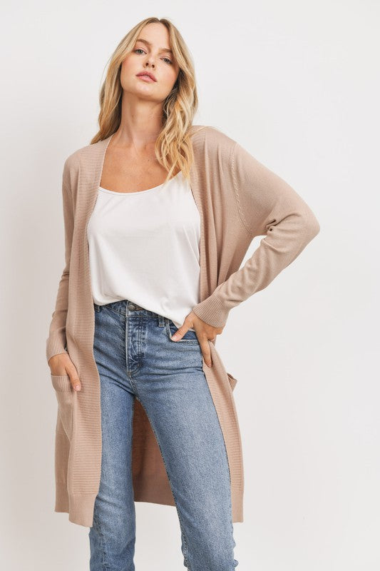 Knit Pocket Duster Cardigan