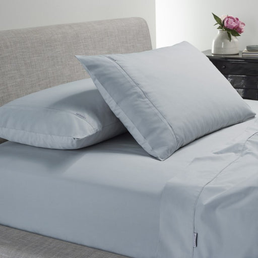 Heston 300 TC Cotton Percale Steel Blue Sheet Set by Bianca