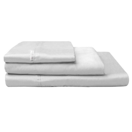 Active300TC Cotton Percale Sheet Set Silver by Logan and Mason