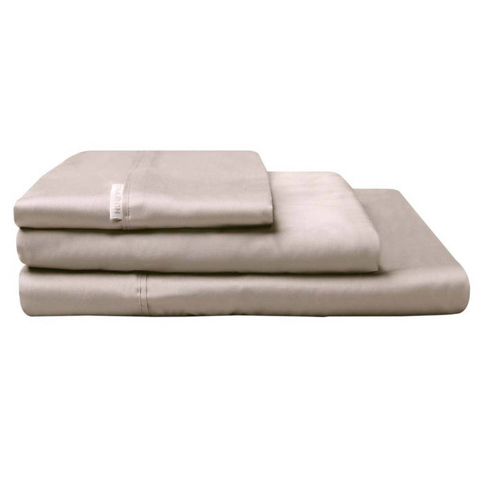 300TC Cotton Percale Sheet Set Stone by Logan and Mason
