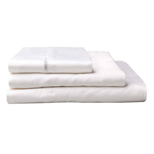 300TC Cotton Percale Sheet Set White by Logan and Mason