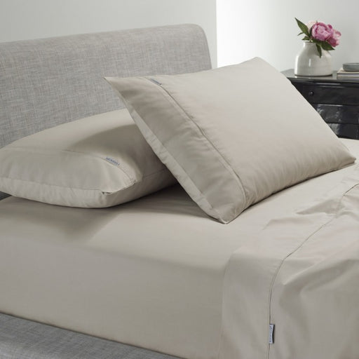 Heston 300 TC Cotton Percale Sheet Set Stone by Bianca