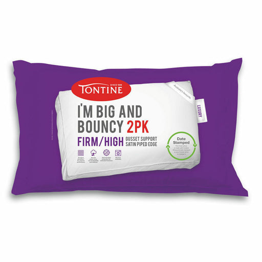 Im Big and Bouncy 2 pack Firm and High Pillows by Tontine
