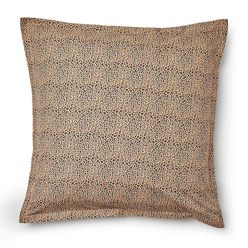 Cheetah Black European Pillowcase by Logan and Mason