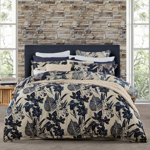 Allambie Indigo Quilt Cover Set By Private Collection