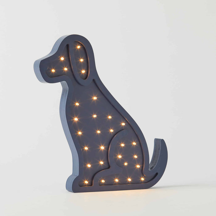 Puppy Blue Wooden Light by Pilbeam Living