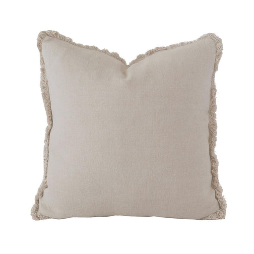 Linen Cushion - Square - Pebble by Bambury