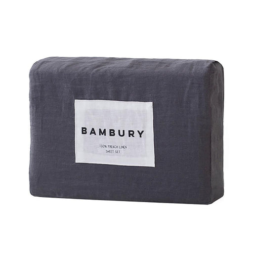 Linen Sheet Set Charcoal by Bambury